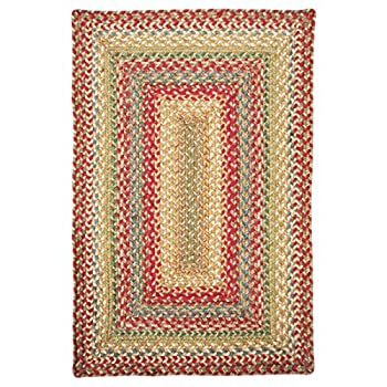 Homespice Rectangular Jute Braided Rugs, 27-Inch by 45-Inch, Azalea
