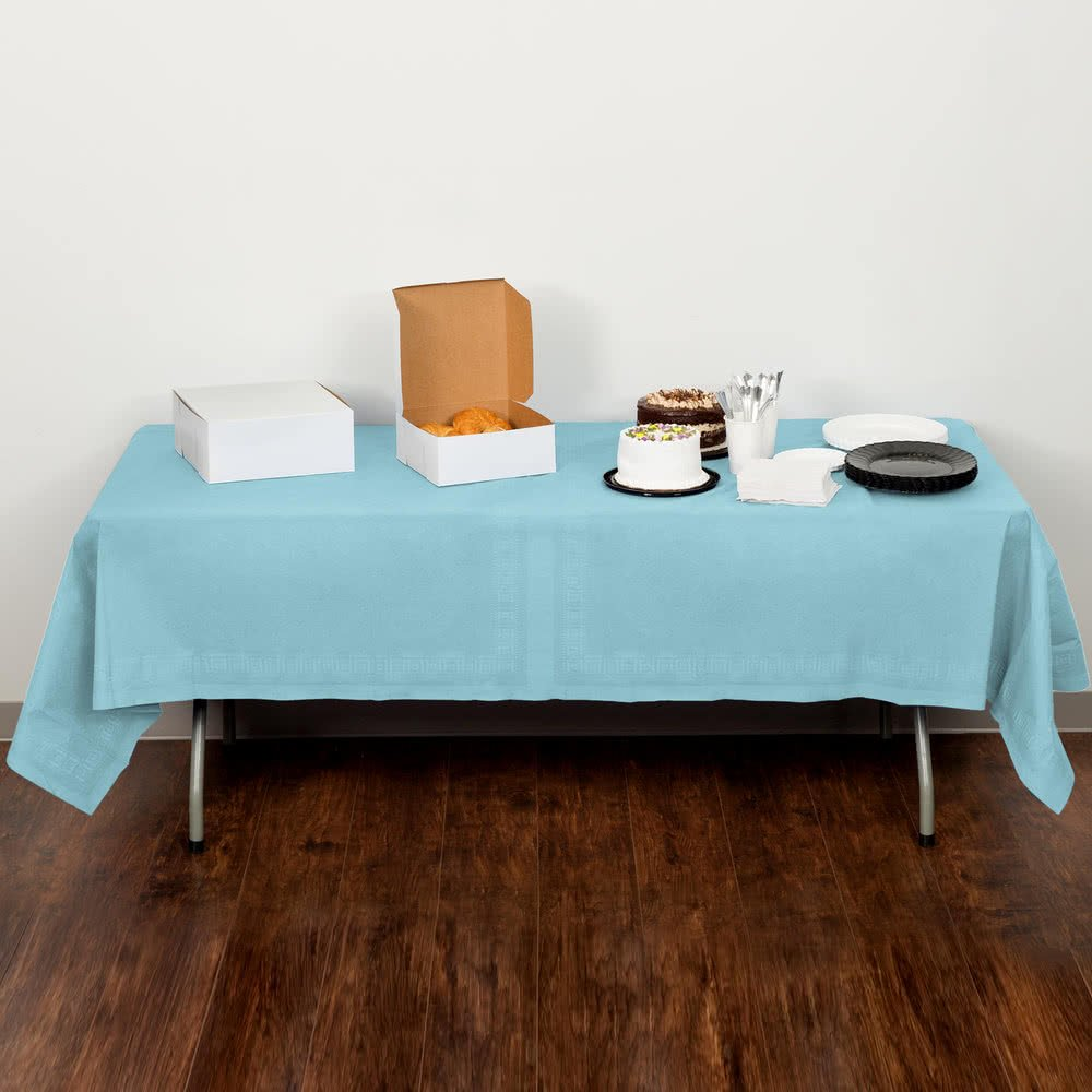 TableTop King 710229 108インチ x 54インチ パステルブルー ティッシュ/ポリテーブルカバー - 6/ケース   B076ZQX389
