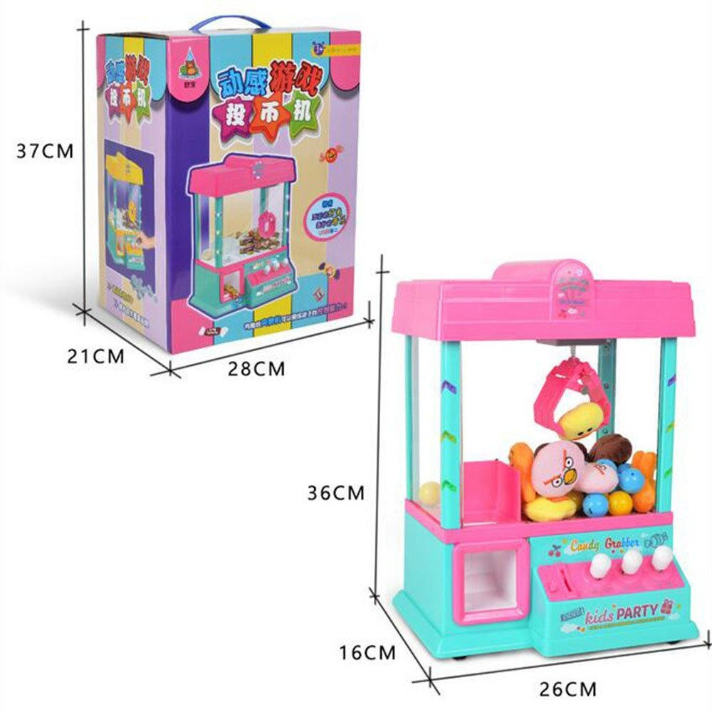 Grabber Machine Crane Claw Arcade Game cable Plastic Timer Traditional Music Global Gizmos Fairground Replica Park Party Kids Christmas Gift CFZHANG CZHANG