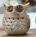 VANCORE(TM) Cute Owl Ceramic Tealights Holders Candle Holder Great Fireplace Home Decoration