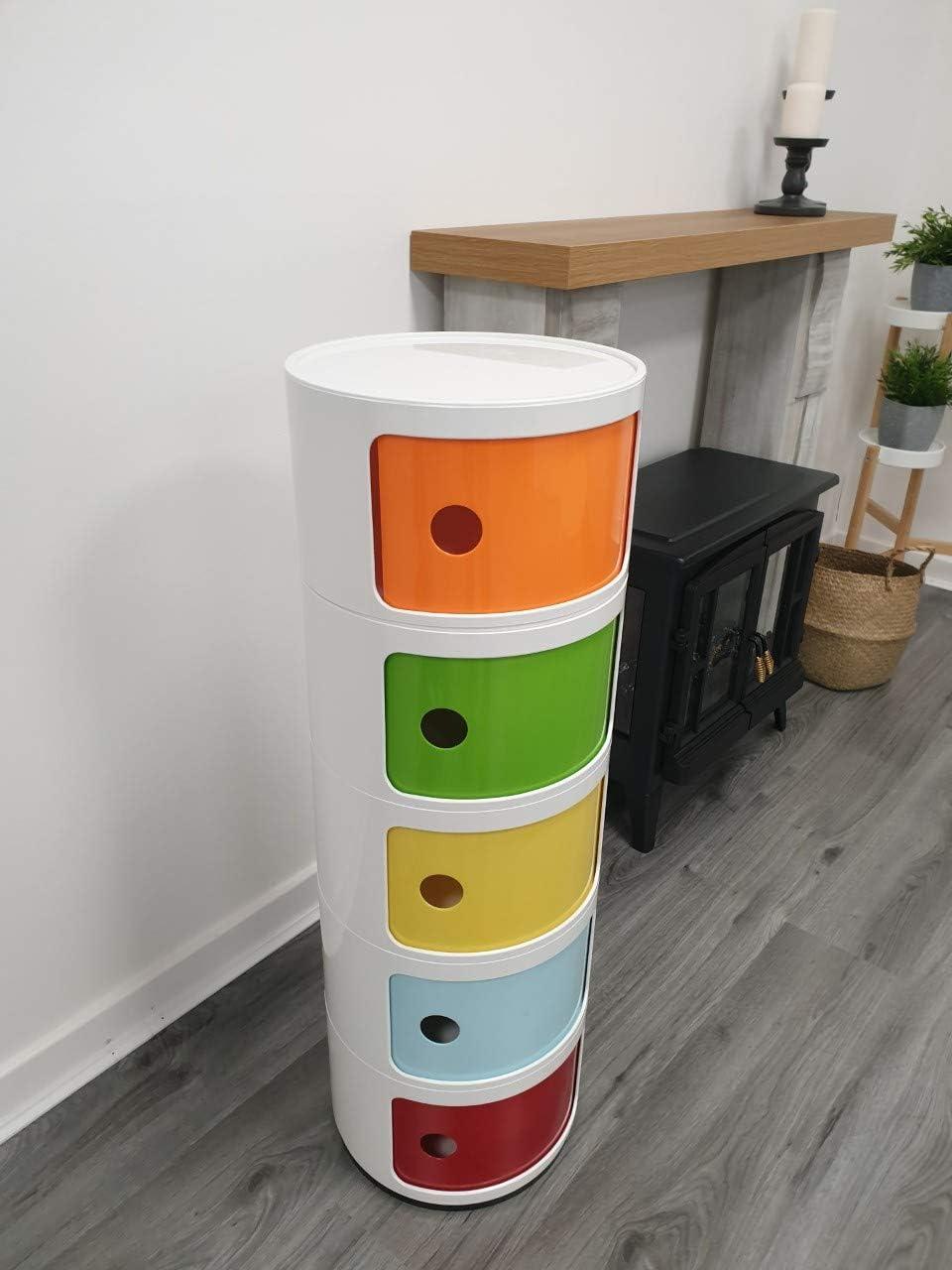 verde Caj/ón de 3 niveles para cuarto de ba/ño color naranja Costello/® azul amarillo y rojo.