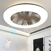 H.W.S Plafond Ventilator Met Verlichting LED-Ventilator Aan Het Plafond Verstelbare Snelheid 3 Wind Dimbaar Met…