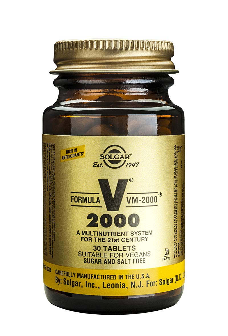 Solgar Fórmula VM-2000 Complemento Alimenticio - 30 Tabletas: Amazon.es: Salud y cuidado personal