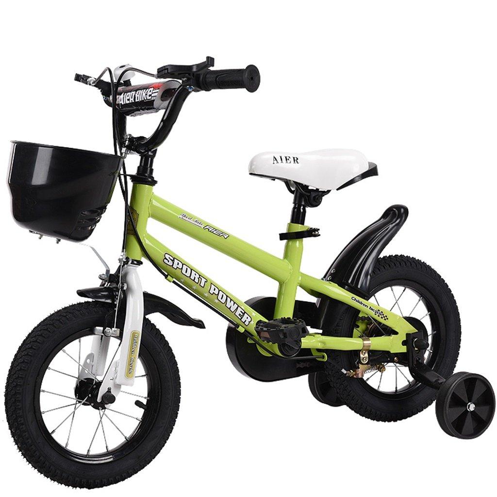 美しい 家チャイルドフォールド自転車3-6-8歳のベビーベビーカー12インチ14インチ16インチ18インチバイク (色 : 緑, サイズ さいず : 16Inch) B07CXDQW4P 16Inch|緑 緑 16Inch