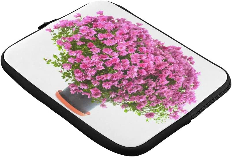 Unique Custom Colorful Flowers in A Ceramic Flowerpot Print Laptop Briefcase for Men Soft Briefcase Laptop for Men Briefcase Protective for MacBook Air 11