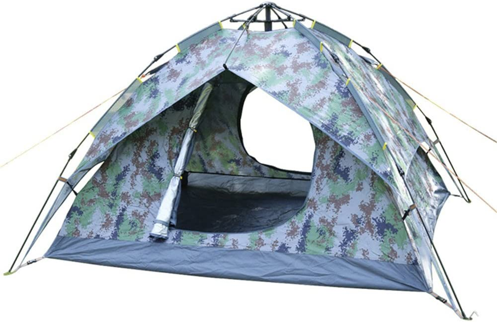 opbsite 3 – 4人頑丈なキャンプテントばね自動インスタントPop Upバックパッキングテント超軽量防水ハイキングキャンプ旅行、サンシェード、Mosquito