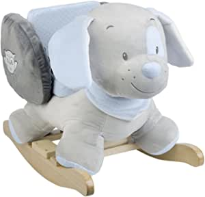 Nattou Toby The Dog Rocker, Grey/Blue