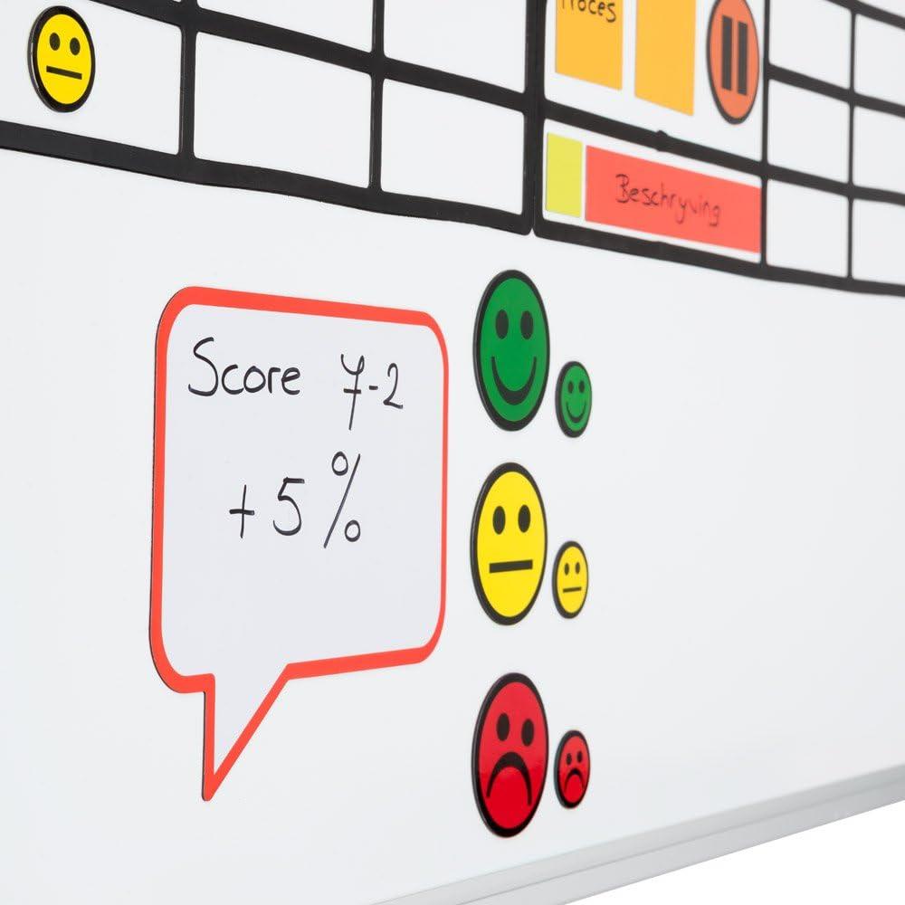 5 Smiley Magnete Durchmesser 2,5 cm f/ür Magnettafeln Rot, 2,5 cm K/ühlschr/änke Plantafeln und Whiteboards Emoji Smiley Magnet