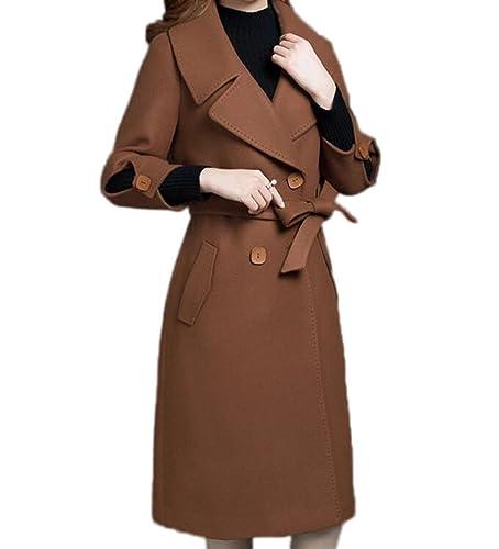 Ladies Windbreaker Capa Coat Coat Otoño E Invierno Slim Era Delgada Mangas De Nueve