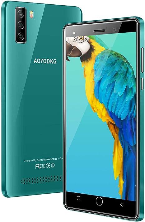 AOYODKG Smartphone 2020, 4G Android 9.0 con 16GB ROM (SD 128GB), Pantalla 5.0 Pulgada HD, Dual Sim, Doble cámara 5MP+8MP, 2800mAh Batería, teléfono móvil 4G, GPS, WiFi, Smartphone Libre Verde: Amazon.es: Electrónica