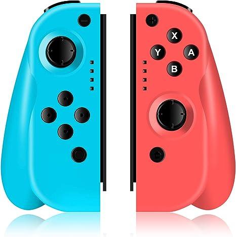 ODLICNO Mando para Nintendo Switch,Bluetooth Wireless Controller Gamepad Joystick Controlador De Reemplazo Izquierdo Y Derecho para Joy Con - Rojo+Azul: Amazon.es: Videojuegos