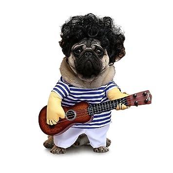 Amazon.com: petisay perro Guitarra estilo Pet Ropa con Pet ...