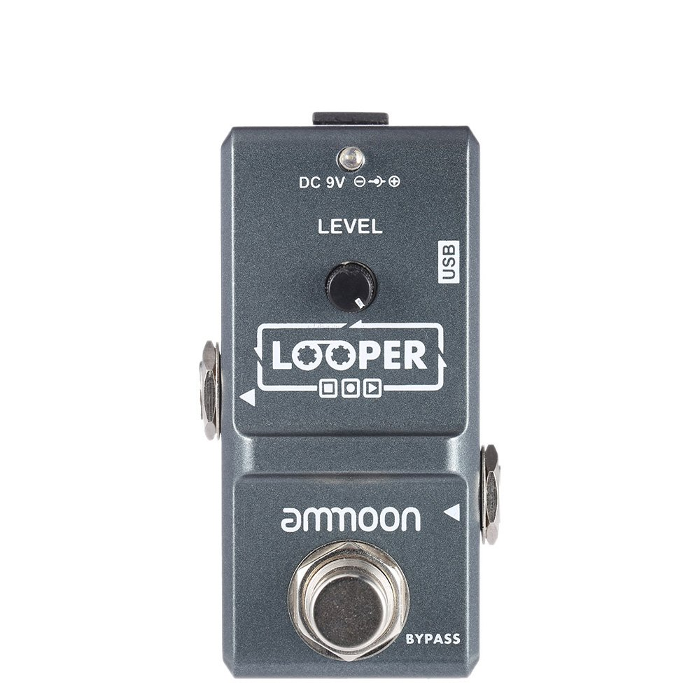 shop amazon com guitar loopers samplers ammoon ap 09 nano loop electric guitar effect pedal looper true bypass unlimited overdubs 10 minutes recording usb cable