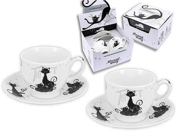 Set de 2 tasses avec soucoupe décoration Chat