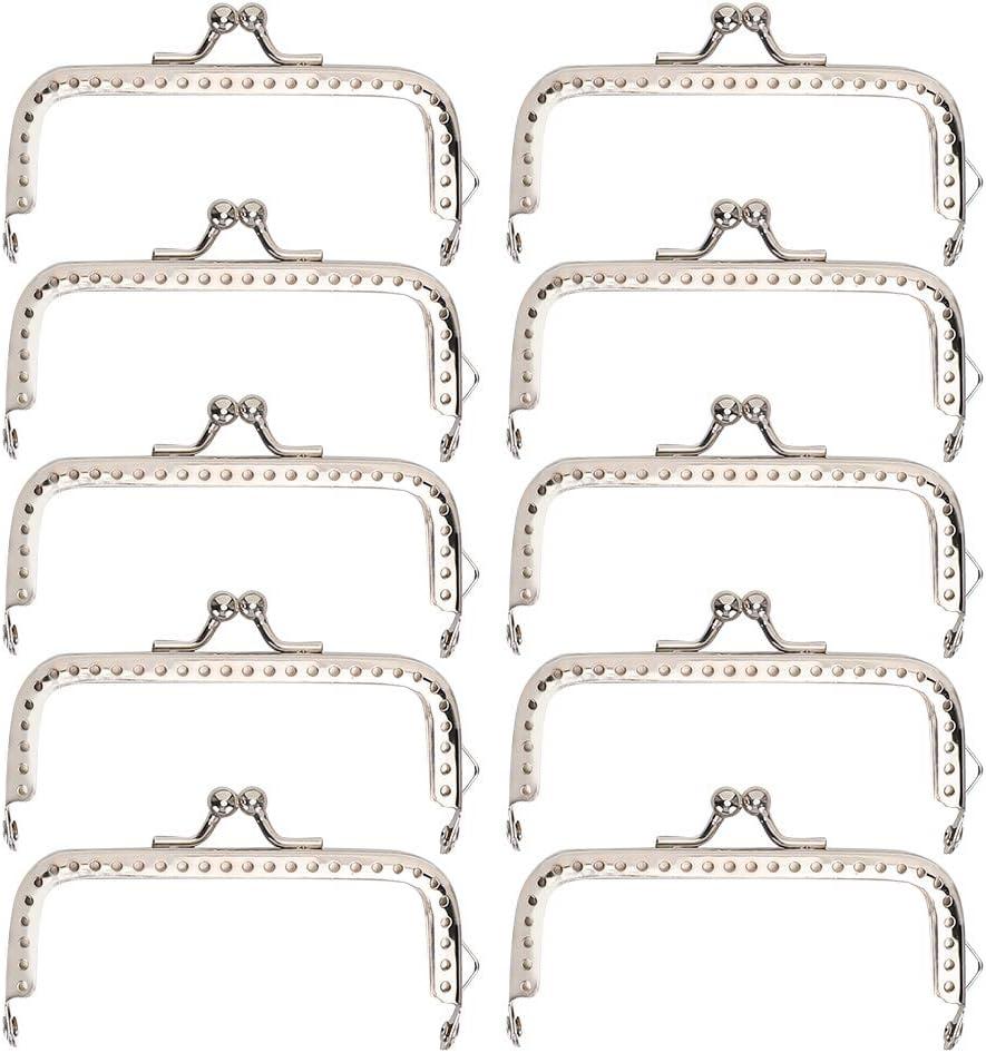8.5cm Square Metal Frame Clasp Lock Clip for Purse Bag Making DIY Craft Supplies BYARSS Purse Frame,10pcs