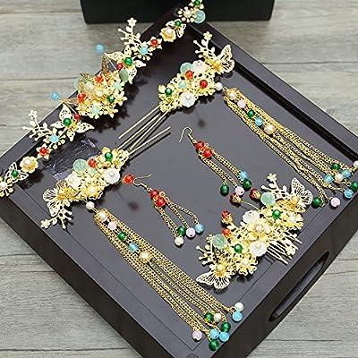 XPY&DGX Accessoires De Cheveux De Mariée En Épingle À Cheveux De Mariage,Costume de mariée coiffure mariage style chinois en épingle à cheveux épingle costume princesse spe
