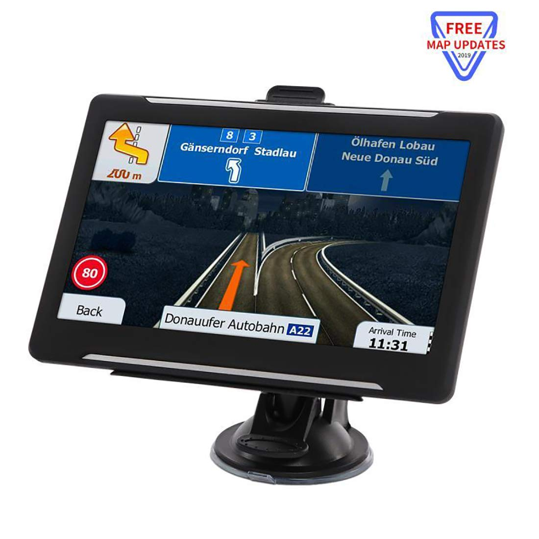 GPS Navigation for car, GPS Navigator System with Free Lifetime Maps, 7 Inch HD Touch Screen, 8GB Voice Broadcast Function, Driving Alert. by Ineed