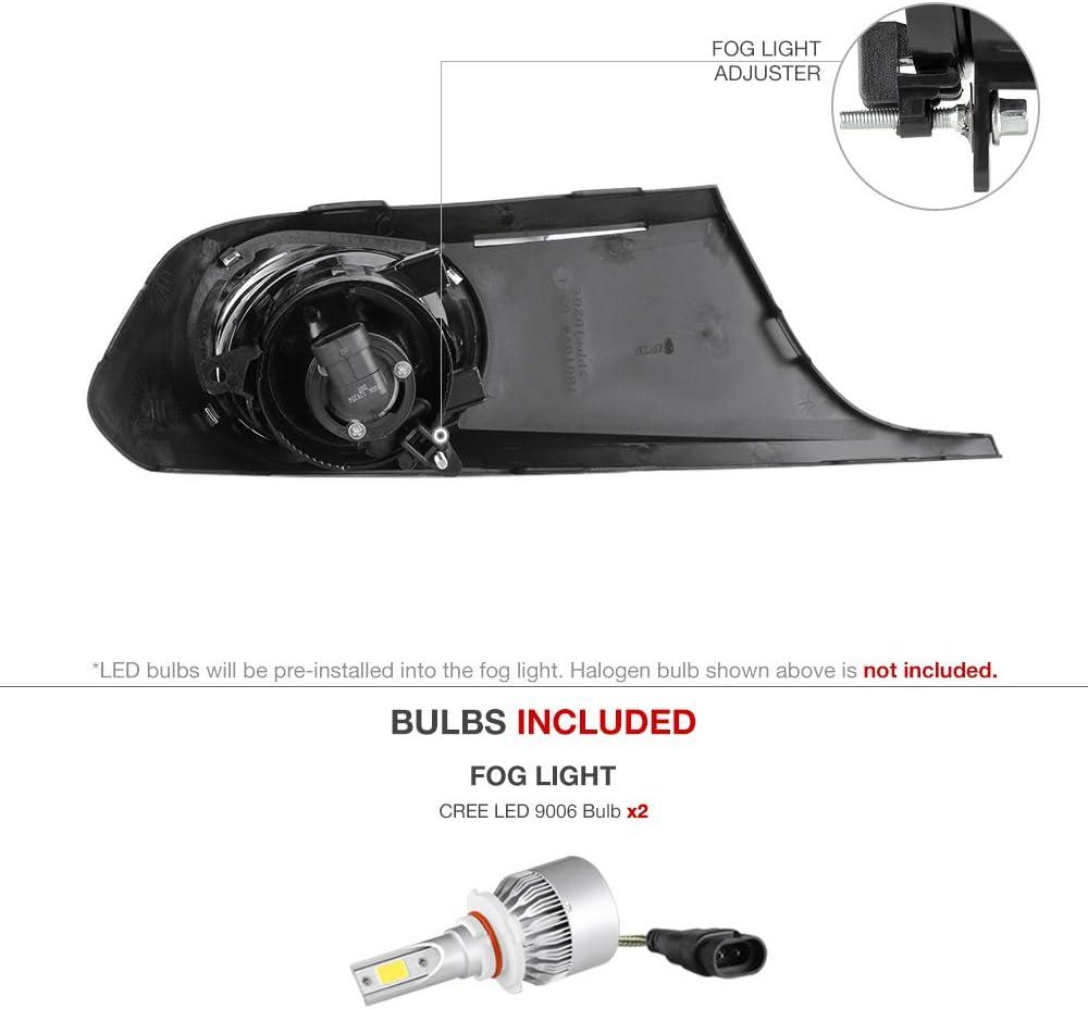 Driver /& Passenger Side Built-In Rainbow RGB LED Bulbs VIPMOTOZ Black Bezel Smoke Housing OE-Style Front Fog Light Driving Lamp Assembly For 2011-2014 Volkswagen VW Jetta Sedan