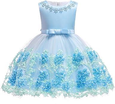 Fête Fleur Princesse Tutu Bébé Enfant Mariage Demoiselle d/'honneur robe formelle robes fille