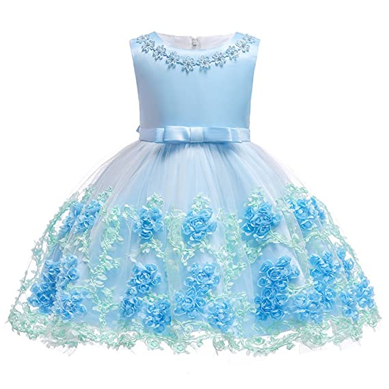 FYMNSI Baby Partykleid Blumenmächen Hochzeitskleid Brautjungfer Kleid Kleinkinder Mächen Tutu Prinzessin Abendkleid Babykleid