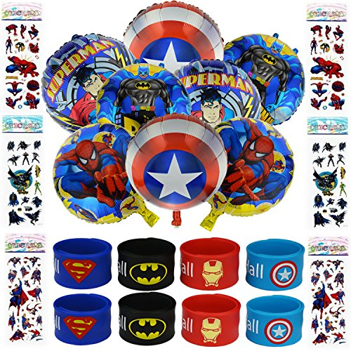 Superhero Party Supplies for Kids - Perfect Party Favors for Boys And Girls - Birthday Party, Kids Gifts, Carnival (Superhero Boys)