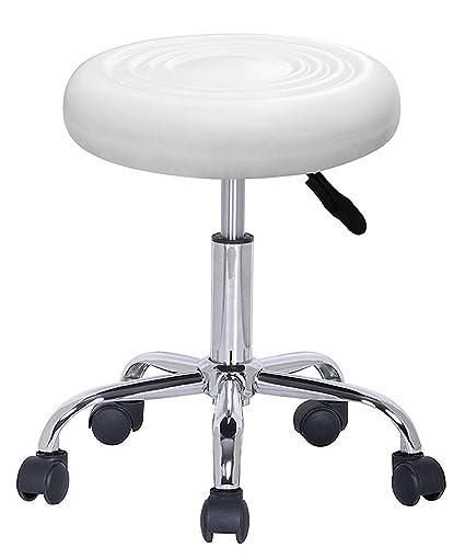 magasin d'usine 71d48 d552a LOVECRAZY Tabouret Rotatif avec Roues Chaise Beauté pour Coiffure,  cosmétique, Dentiste, Chaise de Travail Professionnel Rotatif avec Roues