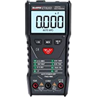 KKmoon WinAPEX ET8103 LCD Display Portable Auto Measure Multimeter AC/DC Voltage Current Capacitance Electric Field Resistance Meter True RMS 6000 Counts Display with Flashlight Function