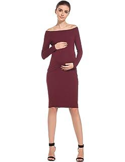 MODETREND Premamá Vestidos sin Tirantes para Mujeres Mama Embarazo Vestido de Maternidad para Fiesta Bodas Cóctel