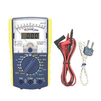 Multímetro Analógico, Multímetro Digital Portátil, Pantalla Dual, Alta Precisión, Protección de Sobrecarga, Medir DCV, Voltaje de CA, Batería, ...