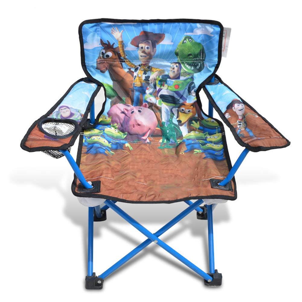 Children's Armchair Fishing Chair Outdoor Leisure Chair Beach Chair Folding Chair-Blue