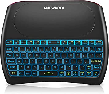 Pad 2.4GHz Mini Wireless Keyboard with Touchpad Mouse Combo 2019 Latest, Backlit T2-7 Backlit Rechargable Li-Ion Battery /& Multi-Media Handheld Remote for Google Android TV Box PS3 PC