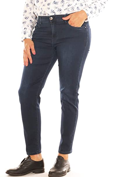 Emanuela Costa Jeans Skinny Donna in Denim Stretch con