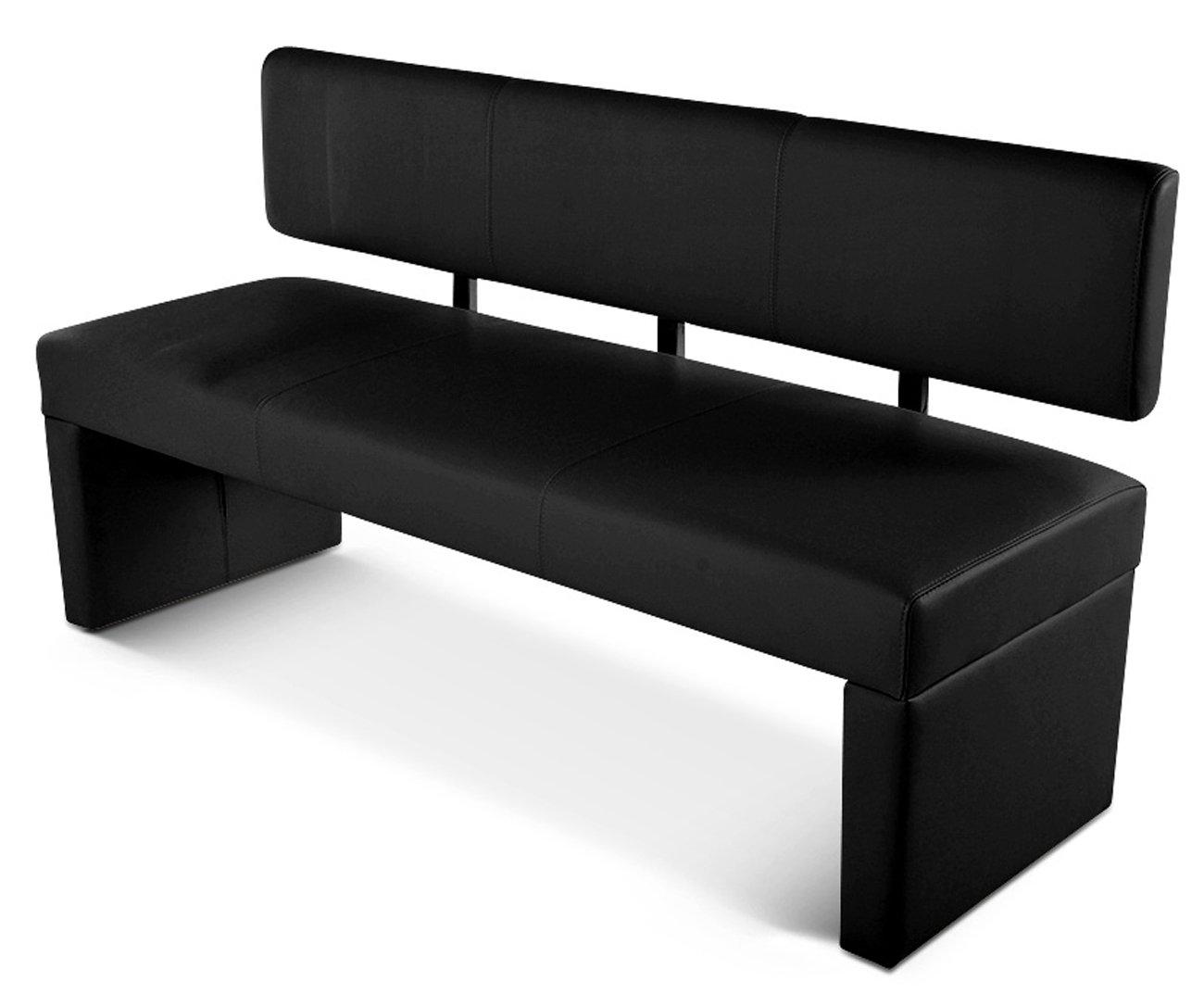 SAM® Sitzbank Silvana 180 cm in schwarz, komplett bezogen, angenehme ...