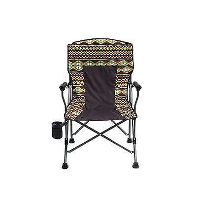 chaise de camping - Style ethnique multifonctionnel chaise peut être utilisé pour le camping vacances caravane de jardin tourisme pêche plage barbecue croquis environnement respirant oxford tissu