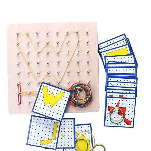 Feli546Bruce Kids Toys, gráficos de Goma Corbata de uñas Geoboard ...
