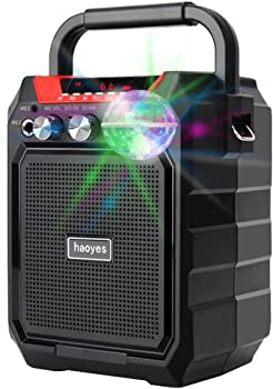Asonway Portable Karaoke Machine with USB Disco Lights