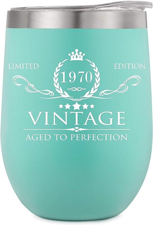 Amazon Com 1970 50th Birthday Gifts For Women Men Wine Tumbler