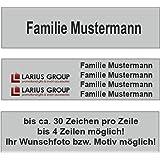 Placca cassetta delle lettere (100x25mm) colore argento ...