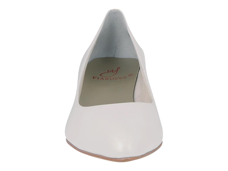Fiarucci Brautschuhe Anya - Pumps Pumps Pumps Weiß Leder - Hochzeitsschuhe Blockabsatz 7868d5