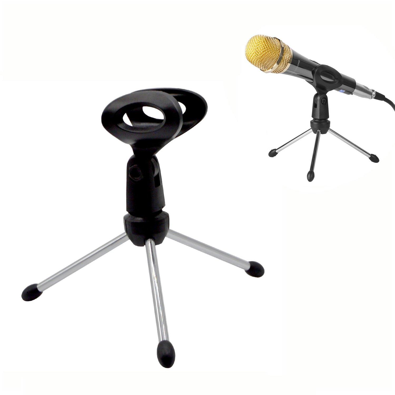 Abnehmbare faltbar tragbar Winkel verstellbar Stativ Tisch Desktop Mikrofon Ständer Halterung Halte Acacia person