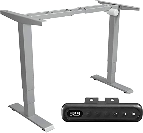 MAIDeSITe Electric Stand Up Desk Frame 3-Stage Standing Desk Frame Adjustable Height Ergonomic Sit Stand Desk Base with Memory Smart Controller