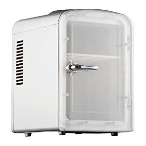 Smad Mini Fridge 6-can Portable thermoelectric Cooler and Warmer Mini Fridge for Bedroom, Office or Dorm