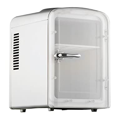 Smad Mini Fridge 6 Can Portable Thermoelectric Cooler And Warmer Mini Fridge For Bedroom, Office Or Dorm by Smad