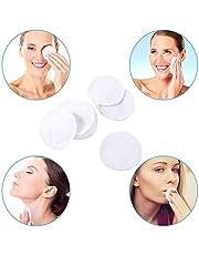 Réutilisable tampons démaquillant, Womdee cristal velours fibre de bambou tampons nettoyants chimiques serviettes libres visage propre doux maquillage facial tampons nettoyants avec double couche 10