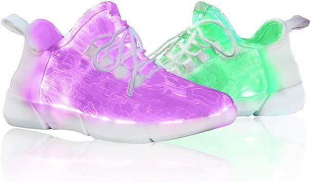 JF Zapatillas LED Zapatillas Running con Carga Intermitente USB ...
