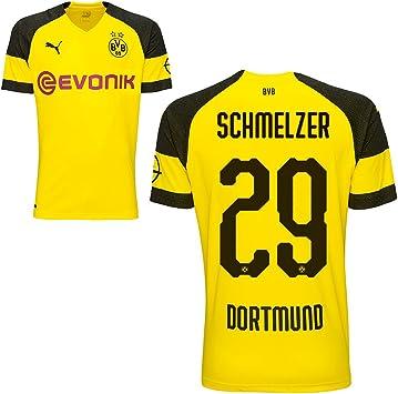 Camiseta Puma BVB Borussia Dortmund (del equipo local alemán) 2018-2019, para hombres, con nombre de jugador