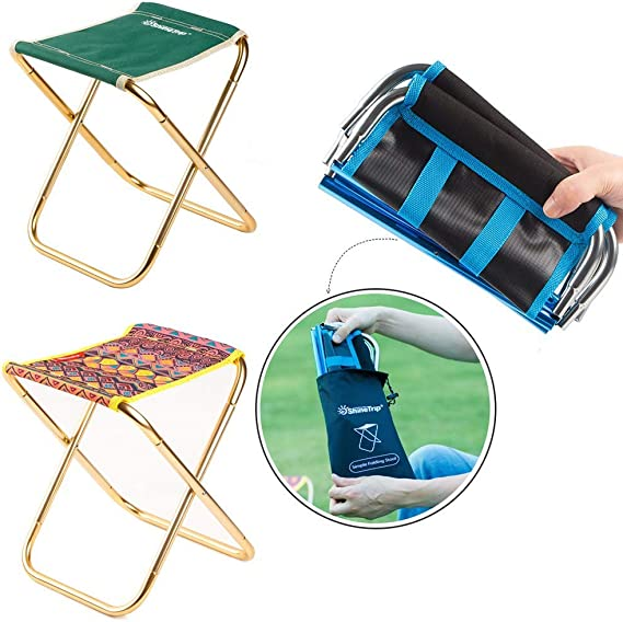 Jmnyxgs Foldable Camping Chair Outdoor Portable Chair Carryable Fishing Stool Folding Seat Ultralight Collapsible Chairs For Hiking Travel Bbq Beach Picnic Garden Lawn Patio Blue Fishing Chairs Seating