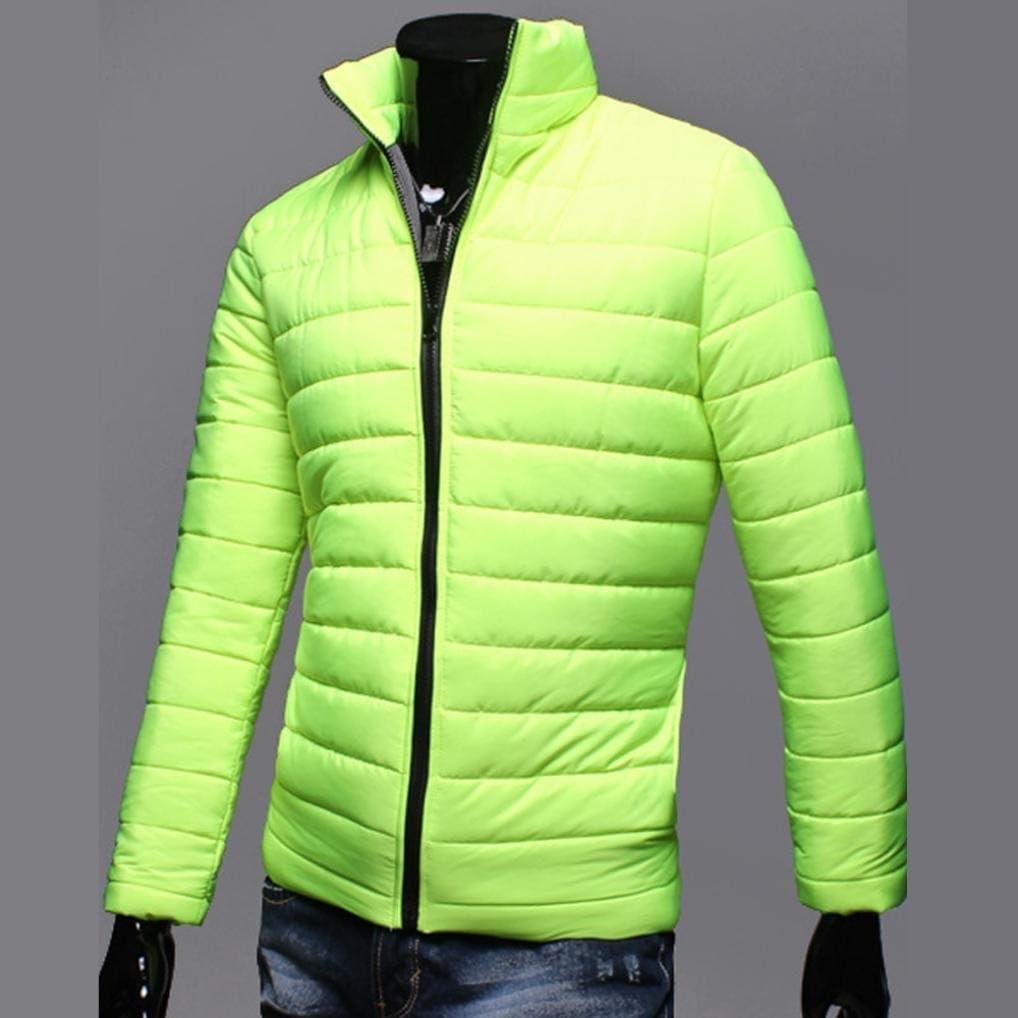 Boys Men Winter Warm Zipper Lightweight Coat Outwear Jacket,Stand Collar Packable Down Jacket Warm Coat