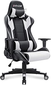 GTRACINGHomall Gaming Chair Office Chair High Back Computer Chair PU Leather Desk Chair