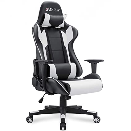 Surprising Homall Gaming Chair Office Chair High Back Computer Chair Pu Leather Desk Chair Pc Racing Executive Ergonomic Adjustable Swivel Task Chair With Ibusinesslaw Wood Chair Design Ideas Ibusinesslaworg